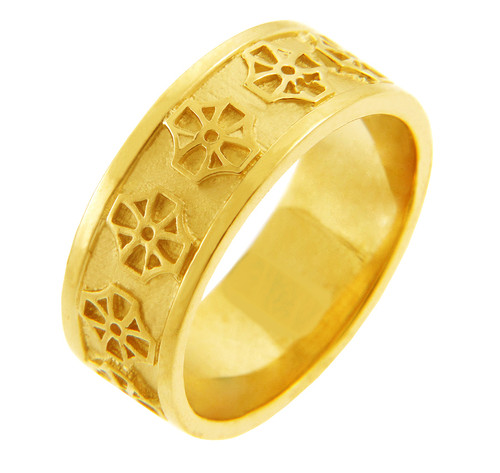 Celtic Band - Yellow Gold Celtic Cross Ring