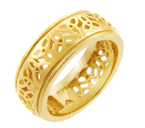 Celtic Ring - Yellow Gold Celtic Trinity Knot Ring