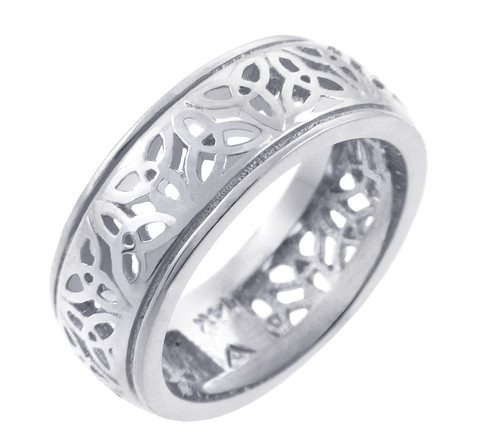 Celtic Ring - White Gold Celtic Trinity Knot Ring
