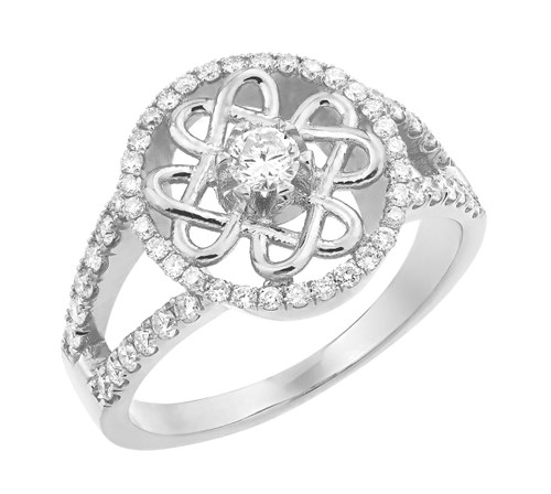 White Gold Forever Celtic Knot  Diamond Wedding Ring