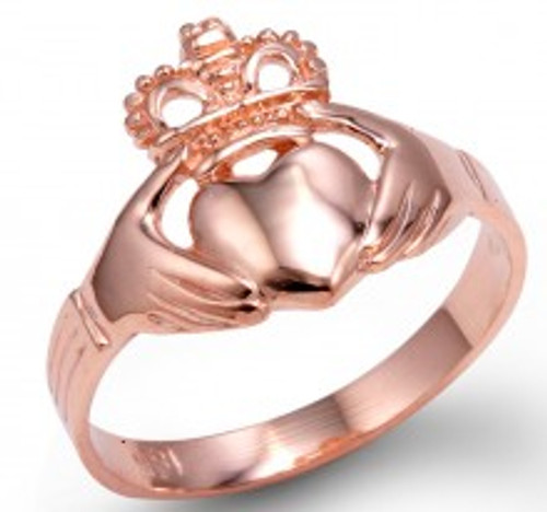 Rose Gold Ladies Traditional Claddagh Ring