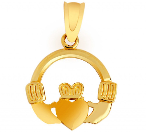 Claddagh Pendant in Solid Gold from CladdaghGold.com - image