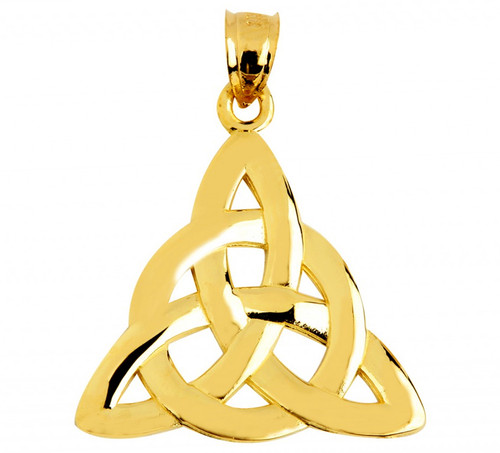 Gold Celtic Trinity Pendant from CladdaghGold.com - image