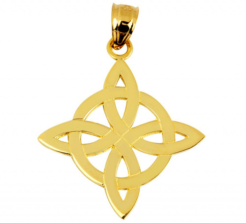 Solid Gold Celtic Inspired Pendant from CladdaghGold.com - image