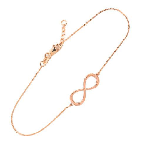 14K Rose Gold Infinity Bracelet