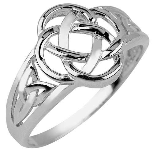 White Gold Trinity Ring Ladies