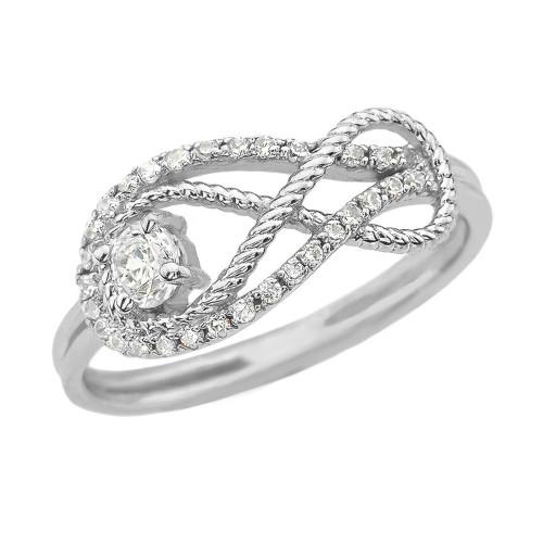 Diamond Infinity Ring in White Gold