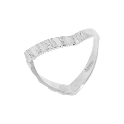 Diamond-Cut Sterling Silver Thumb Ring