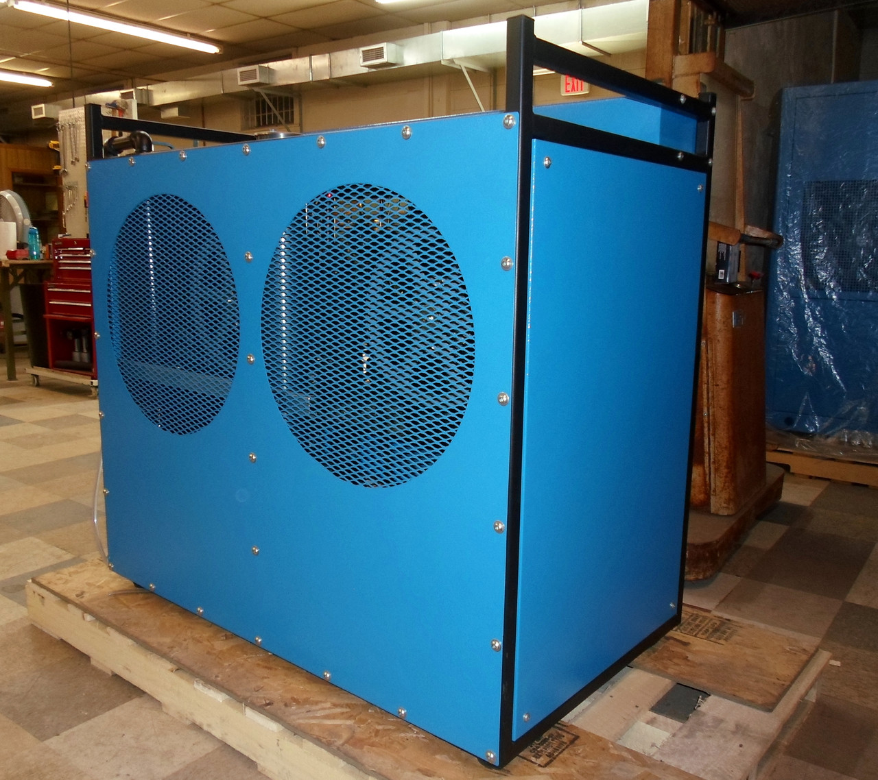Enclosed Frame 5000 PSI- 7.5 HP Twin Compressor
