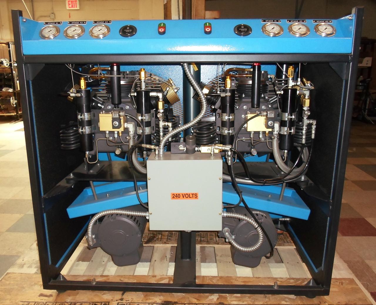Enclosed Frame 5000 PSI- 7.5 HP Twin Compressor