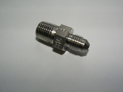 "Stainless Steel 1/4"" M NPT x JIC Straight Adapter"