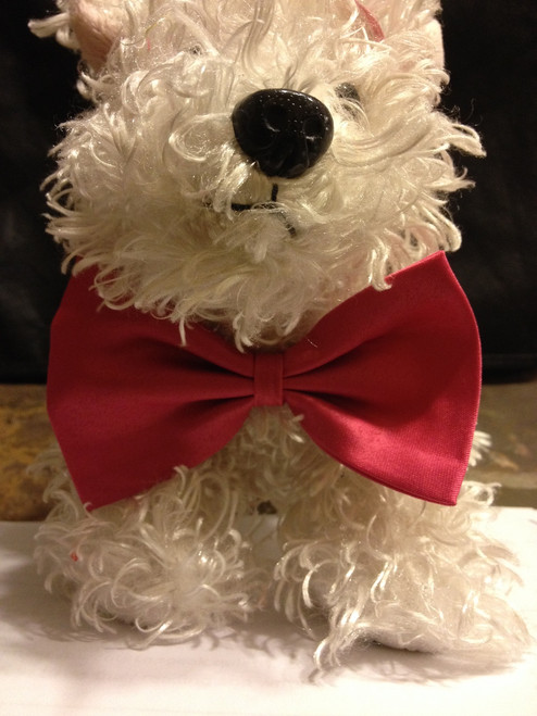 Got Knot Red dog or cat bow tie