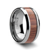 Bertuccio Tungsten Carbide Wedding Band with Rosewood Inlay