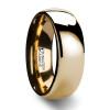 Criton Domed Gold Tungsten Wedding Band