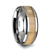 Biesius Tungsten Wedding Band with Ash Wood Inlay