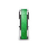 Lawrence Men's Tungsten Wedding Band with Sparkling Green Inlay