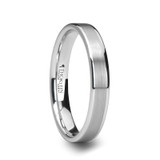 Wayne Flat Brushed White Tungsten Wedding Band