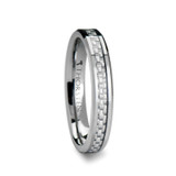 Ultima Tungsten Wedding Band with White Carbon Fiber Inlay