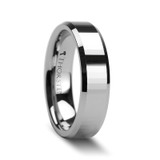 Turin Rectangular Faceted Tungsten Wedding Band