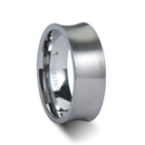 Tucson Brushed Concave Tungsten Wedding Band