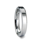 Terezza Rectangular Faceted Tungsten Wedding Band