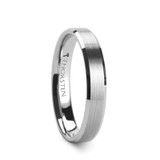 Sylvia Bushed Tungsten Wedding Band