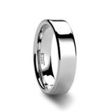 Stockton Flat White Tungsten Wedding Band