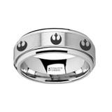Star Wars Rebel Alliance Symbol Spinner Tungsten Wedding Band