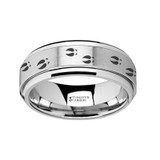 Deer Tracks Spinner Tungsten Wedding Band