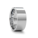 Shelton Flat White Tungsten Wedding Band