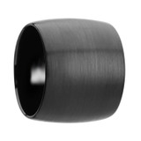 Aether Domed Black Tungsten Wedding Band with Brushed