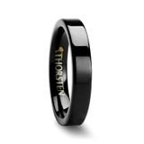 Bellona Black Flat Tungsten Wedding Band