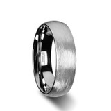 Blackwald Domed Tungsten Wedding Band with Textured Brushed Finish