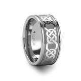 Boston Celtic Laser Engraved Tungsten Wedding Band