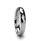 Celona Faceted Tungsten Wedding Band