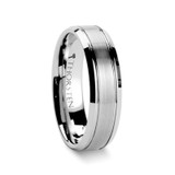 Cronus Brushed Center Tungsten Wedding Band