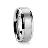 Cronus Brushed Center Tungsten Wedding Band