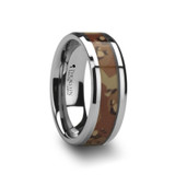 Crusader Tungsten Wedding Band with Military Style Desert Camouflage Inlay