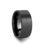 El Paso Brushed Flat Black Tungsten Wedding Band