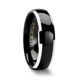 Esprit Black Domed Tungsten Wedding Band