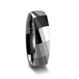 Eternity Multi Faceted Tungsten Wedding Band