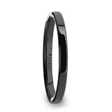 Faith Black Flat Ceramic Women's Wedding Band