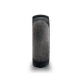 Fingerprint Engraved Domed Brushed Black Tungsten Wedding Band