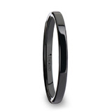 Fraener Flat Black Ceramic Wedding Band