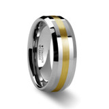 Legionaire Tungsten Wedding Band with Gold Inlay