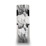 Martel Hammered White Tungsten Wedding Band