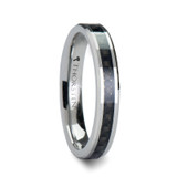 Maxima Tungsten Wedding Band with Black Carbon Fiber Inlay