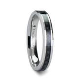 Maxima Tungsten Wedding Band with Black Carbon Fiber Inlay