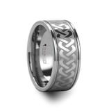 Mckinney Celtic Knot Laser Engraved Men's Wide Tungsten Wedding Band
