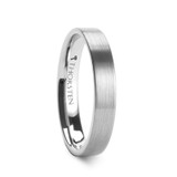 Mercury Flat Brushed Tungsten Wedding Band